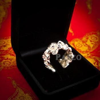 แหวนดอกไม้ แหวนเงินแท้925  #7