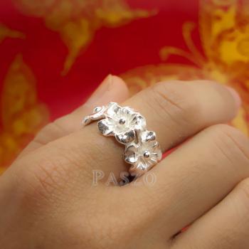 แหวนดอกไม้ แหวนเงินแท้925  #8