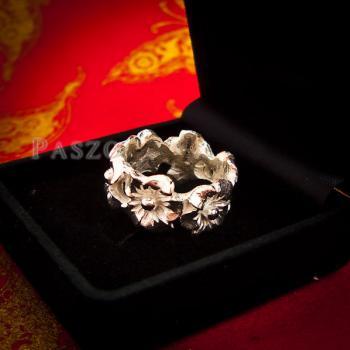 แหวนดอกไม้ แหวนเงินแท้925  #9