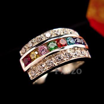 แหวนเงินแท้ เม็ดกลม เพชร #2