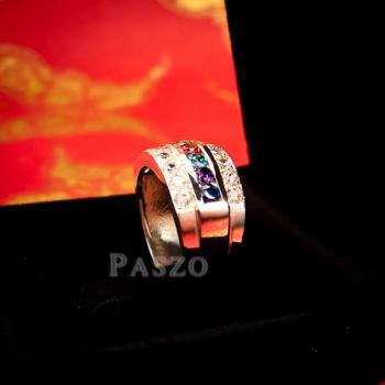 แหวนเงินแท้ เม็ดกลม เพชร #4