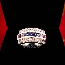 ประดับเพชร แหวนแถว แหวนเงินแท้
