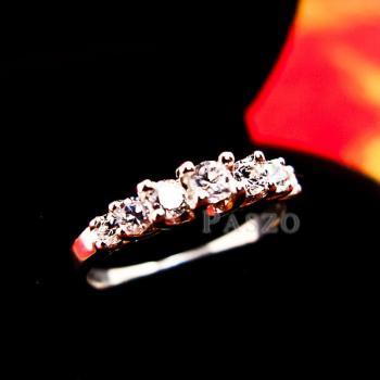 แหวนเพชร 7เม็ด แหวนเงิน #2