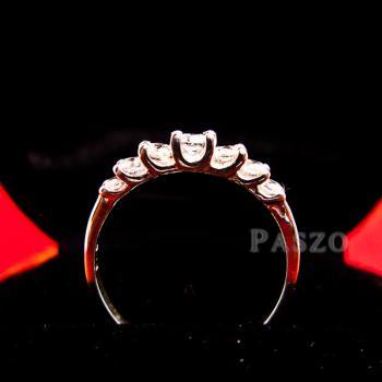 แหวนเพชร 7เม็ด แหวนเงิน #4