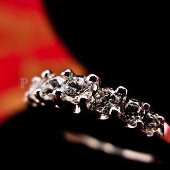 แหวนเพชร 7เม็ด แหวนเงิน #5