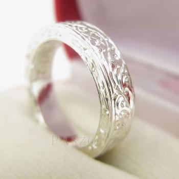 แหวนแกะลายทั้งวง หน้ากว้าง5มิล แกะสลักลายไทย #2