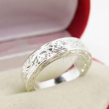 แหวนแกะลายทั้งวง หน้ากว้าง5มิล แกะสลักลายไทย #3