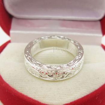 แหวนแกะลายทั้งวง หน้ากว้าง5มิล แกะสลักลายไทย #5