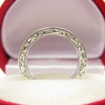แหวนแกะลายทั้งวง หน้ากว้าง5มิล แกะสลักลายไทย #6