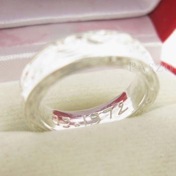 แหวนแกะลายทั้งวง หน้ากว้าง5มิล แกะสลักลายไทย #8