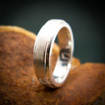 แหวนขอบลดระดับ หน้ากว้าง4มิล ปัดด้าน #2