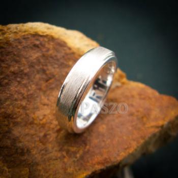 แหวนขอบลดระดับ หน้ากว้าง4มิล ปัดด้าน #3