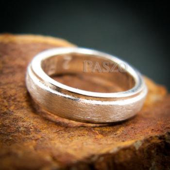 แหวนขอบลดระดับ หน้ากว้าง4มิล ปัดด้าน #4