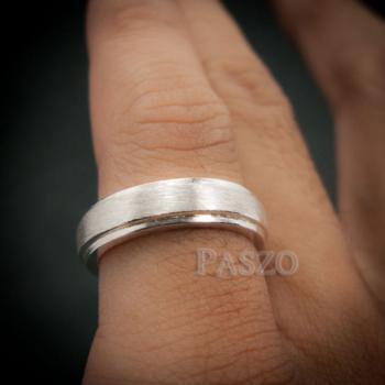 แหวนขอบลดระดับ หน้ากว้าง4มิล ปัดด้าน #7