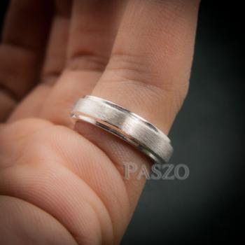 แหวนขอบลดระดับ หน้ากว้าง4มิล ปัดด้าน #8