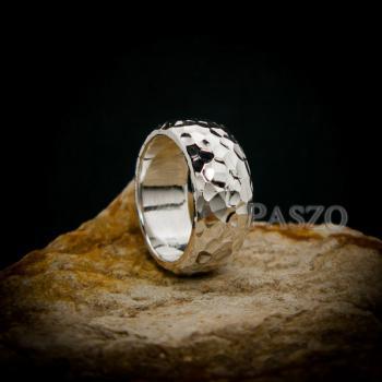 แหวนตอกลายค้อน หน้ากว้าง8มิล แหวนเงินแท้ #6