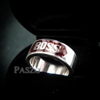 แหวนนามสกุล หน้ากว้าง8มิล แหวนลงยาสีแดง #4