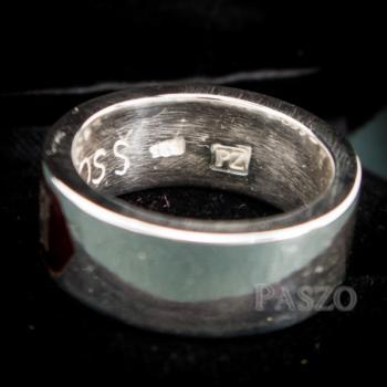 แหวนนามสกุล หน้ากว้าง8มิล แหวนลงยาสีแดง #7
