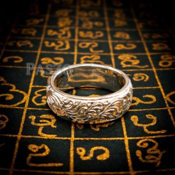 แหวนแกะลายไทย หน้ากว้าง8มิล แหวนเงินแท้ #7