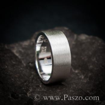 แหวนปัดด้าน หน้ากว้าง8มิล แหวนเงินแท้ #2