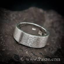 แหวนปัดด้าน หน้ากว้าง8มิล แหวนเงินแท้ แหวนเกลี้ยง