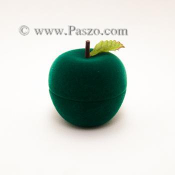 กล่องใส่แหวน รูปแอปเปิ้ล กล่องกำมะหยี่ #4