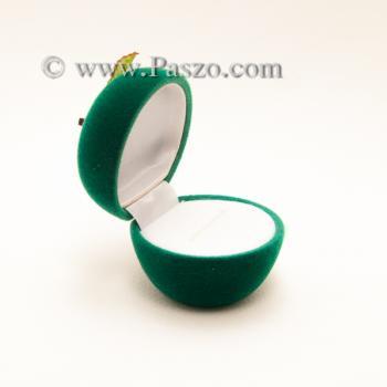 กล่องใส่แหวน รูปแอปเปิ้ล กล่องกำมะหยี่ #5