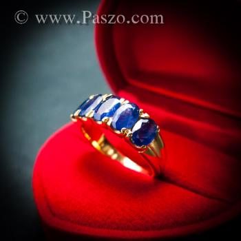 แหวนทอง แหวนพลอยไพลิน แหวนแถว #3