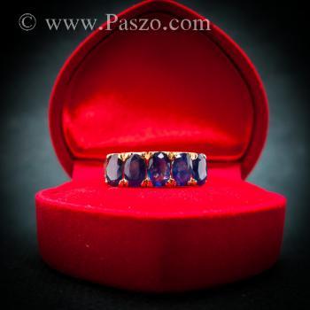 แหวนทอง แหวนพลอยไพลิน แหวนแถว #5