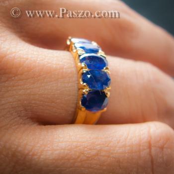 แหวนทอง แหวนพลอยไพลิน แหวนแถว #8