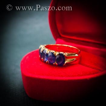 แหวนทอง แหวนพลอยไพลิน แหวนแถว #4