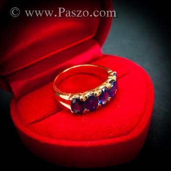 แหวนทอง แหวนพลอยไพลิน แหวนแถว #6