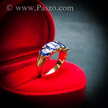 แหวนทอง แหวนพลอยไพลิน แหวนแถว #7