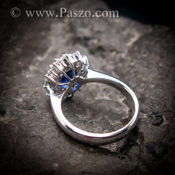 แหวนพลอยไพลิน แหวนพลอยสีน้ำเงิน หนามเตยถี่ #4