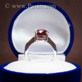 แหวนพลอยโกเมน สีแดงแก่ก่ำ พลอยสีส้มเข้ม #3