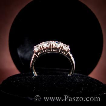 แหวนเพชร 4เม็ด แหวนเงินแท้ #4