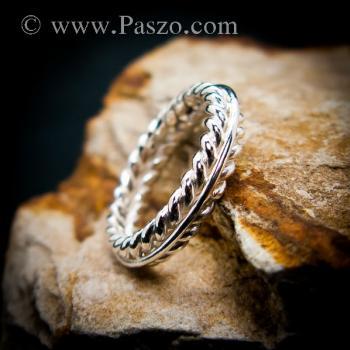 แหวนเงิน แหวนเกลียว แหวนเงินแท้ #2