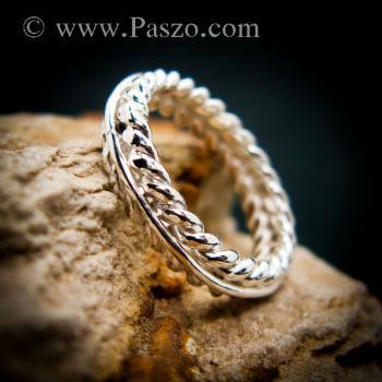 แหวนเงิน แหวนเกลียว แหวนเงินแท้ #4