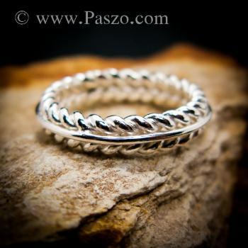 แหวนเงิน แหวนเกลียว แหวนเงินแท้ #5