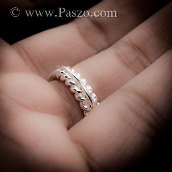 แหวนเงิน แหวนเกลียว แหวนเงินแท้ #6