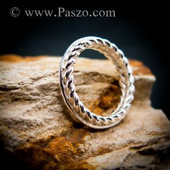 แหวนเงิน แหวนเกลียว แหวนเงินแท้ #7