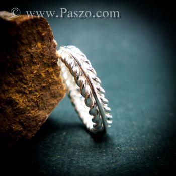 แหวนเงิน แหวนเกลียว แหวนเงินแท้ #8
