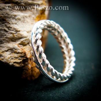 แหวนเงิน แหวนเกลียว แหวนเงินแท้ #9