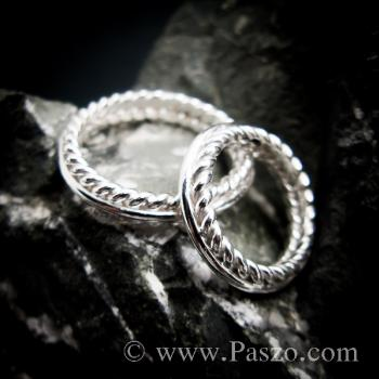 ชุดแหวนเงินคู่  แหวนเงินแท้ #2