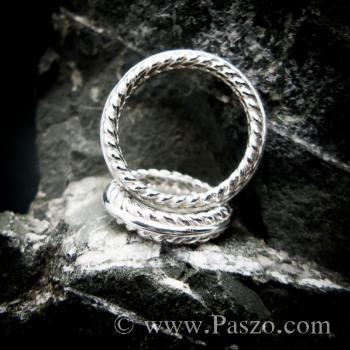 ชุดแหวนเงินคู่  แหวนเงินแท้ #4