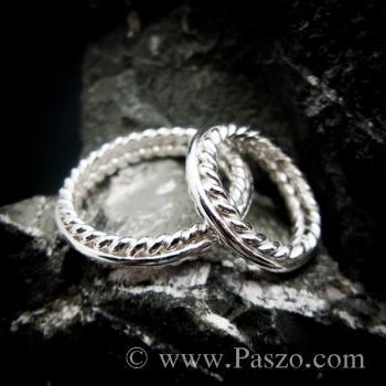ชุดแหวนเงินคู่  แหวนเงินแท้ #6