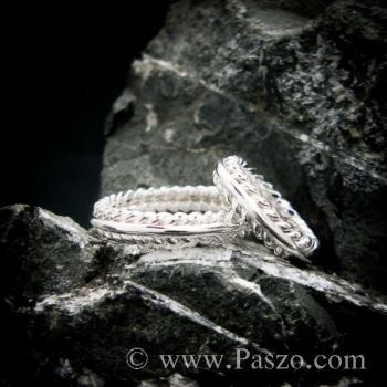 ชุดแหวนเงินคู่  แหวนเงินแท้ #8