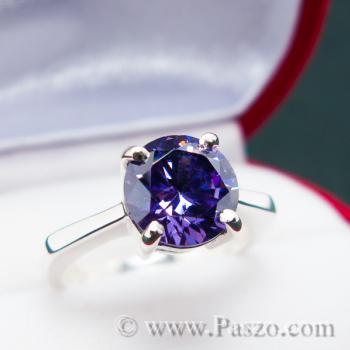 แหวนพลอยสีม่วง อะเมทิสต์ แหวนเงินแท้ #3
