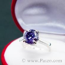 แหวนพลอยสีม่วง อะเมทิสต์ แหวนเงินแท้ ฝังพลอยอะเมทิสต์ สีม่วง