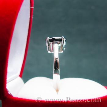 แหวนนิล แหวนเงินแท้ พลอยเม็ดเดี่ยว #5